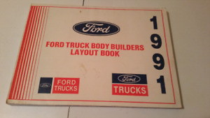 1991 Ford heavy duty truck builders book