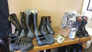 used shoes and insulated coverals
