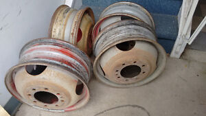 """Ford 16.5"""" dually rims - matched set of 2. 8 bolt"""