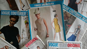 Collection of 12 Sewing /Dress VINTAGE Patterns COUTURE Designer
