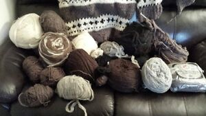 Pure Thick Buffalo Wool and Cowichan Sweater Pieces
