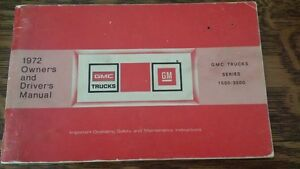 1972 GMC Glove Box Owners Manual, very good shape