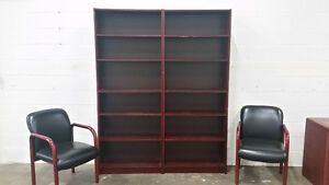 Matching Credenza, Bookshelves and Chairs Edmonton Edmonton Area image 2