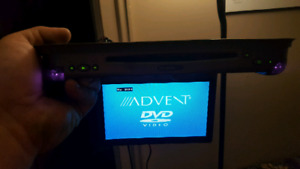 Advent 8 inch flip down dvd player