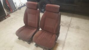 g body monte carlo ss bucket seats maroon Chevrolet