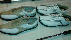 Deux paires de souliers de golf femme gr 8 Très propres 10  $ ch