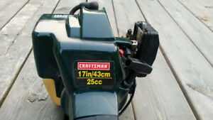 Craftsman gas weed trimmer 17 inch 25 cc