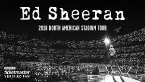 2 tickets for Ed Sheeran - THU, AUG 30 - Section 118