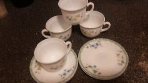 Gibson tea cups and saucer - set of 4