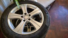 Mercedes alloys/tyres