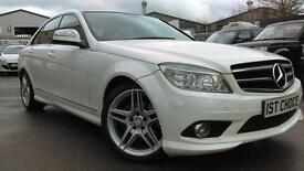 2009 MERCEDES C-CLASS C220 CDI SPORT CALCITE WHITE PAN ROOF SALOON DIESEL