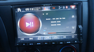 Touch screen cd player