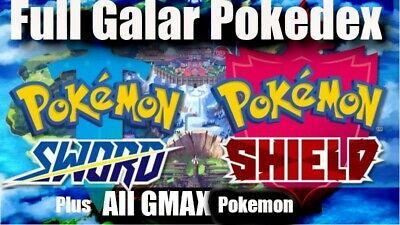 Pokemon Sword Shield Home | Complete 100% Full Galar Isle of Armor Pokedex Gmax