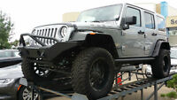 2015 JEEP WRANGLER 4' BDS LIFT WITH POWER FOLDING RUNNING BOARDS