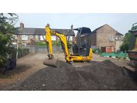 Mini digger hire - Stoke on trent