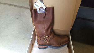 Riding boots -  brown,  leather