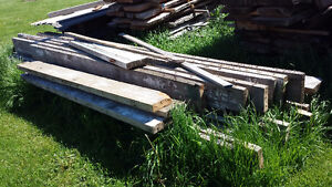 Red pine planks