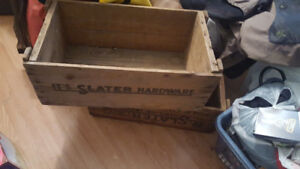 2 old wooden crates