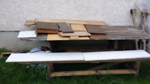 Several pieces of boards