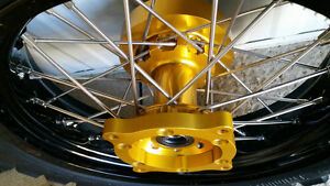 Spoked wheels, tires & brake rotors for Suzuki V-Strom Edmonton Edmonton Area image 2