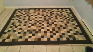 "Checkerboard Rug - Approx 6 1/2 x 8 1/2' (76"" x 102"")"