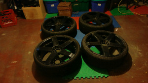 22 inch KMC rockstair rims +3 tires