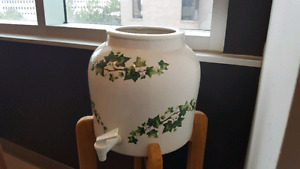 Big Chinese  water jar with stand
