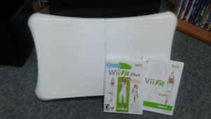 Wii fit + 2  jeux exercices