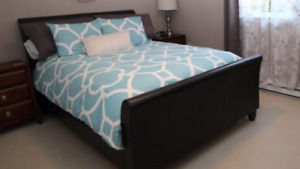 Complete Queen bed and box spring - smoke free home