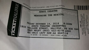 Menopause the musical single ticket October 14th