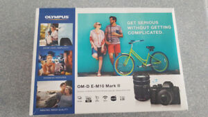 Brand new Olympus OM-D E-M10 Mark II Camera with 2 Lens: BNIB