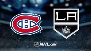Canadiens Montreal/Kings Los Angeles 11 Octobre MATCH OUVERTURE