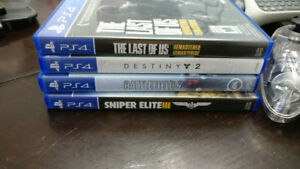 PS4 - Destiny 2, Battlefield 4, & Sniper Elite 3