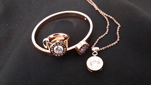 Rose Gold Jewelry set with interchangeable gemstones
