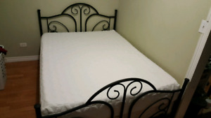 New queen mattress + box spring and frame