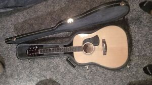Aria acoustic guitar with hard case