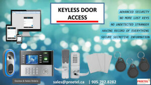 Keyless Door Access System Sales & Installation-905-792-8282