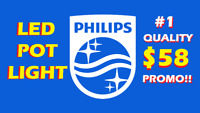 PHILIPS® BEST QUALITY LED POT LIGHT RELIABLE INSTALLATION $58