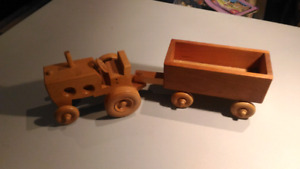 Quality hand made tractor and wagon