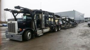 Peterbilt 379 Car Hauler / Car Carrier with Wally Mo 750 trailer