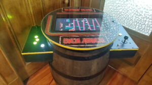 Donkey Kong Cocktail Arcade Machine Whiskey Barrel 60/412 GAMES