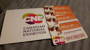 4 CNE Ride All Day Passes for $40 each