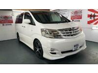 Toyota Alphard 2.4 white petrol automatic 8 seater mpv fresh import 2005