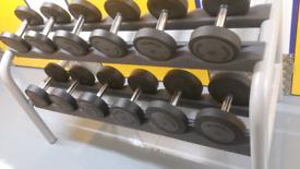 Technogym Dumbbells and Rack 4 Kg to 14 Kg