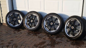 5x114.3 Rays Volk Racing Rims and Tires