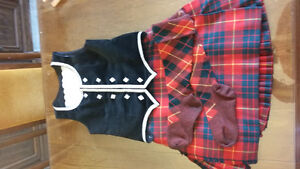 Highland dance outfit with full kilt