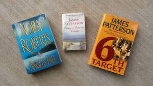 James Patterson (2) and Nora Roberts(1)  Books