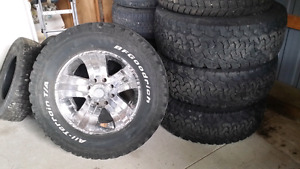325x60x20 BF Goodrich KO tires and American Racing wheels
