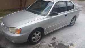 2002 Hyundai Accent GSI 5 speed manual for sale.