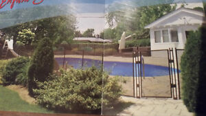 removable pool fence / cloture piscine amovible